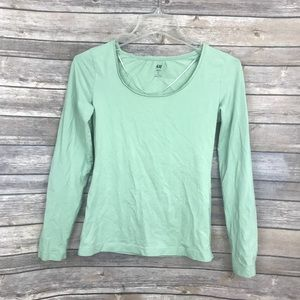 H&M MINT FITTED CROP TOP